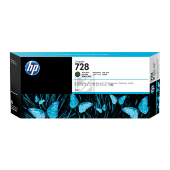 3WX25A // HP 728 / Tinte matt black / 3WX25A // 130 ml