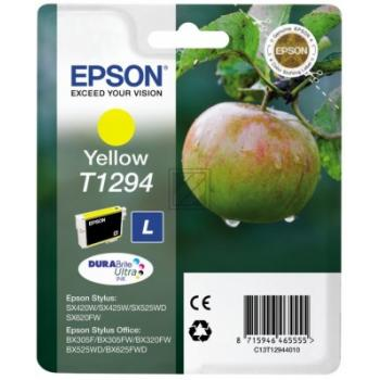 C13T12944012 / T1294 Original Tinte Yellow für Eps / C13T12944010 / C13T12944012 / 7ml