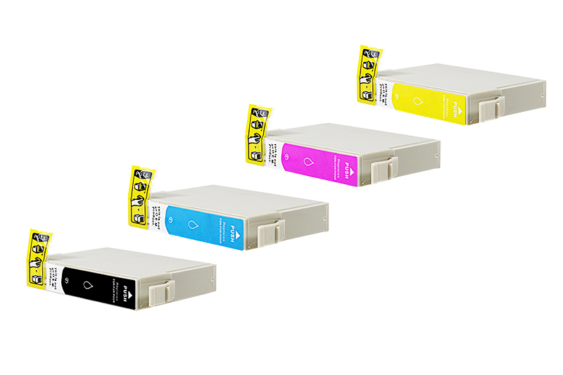 Multipack T1295 Alternativ Tinte für Epson / C13T12954012 / BK15ml /C,M,Y13ml