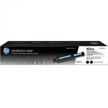 HP 103AD Neverstop Toner Reload Kit 2Pack: Nevers / W1103AD