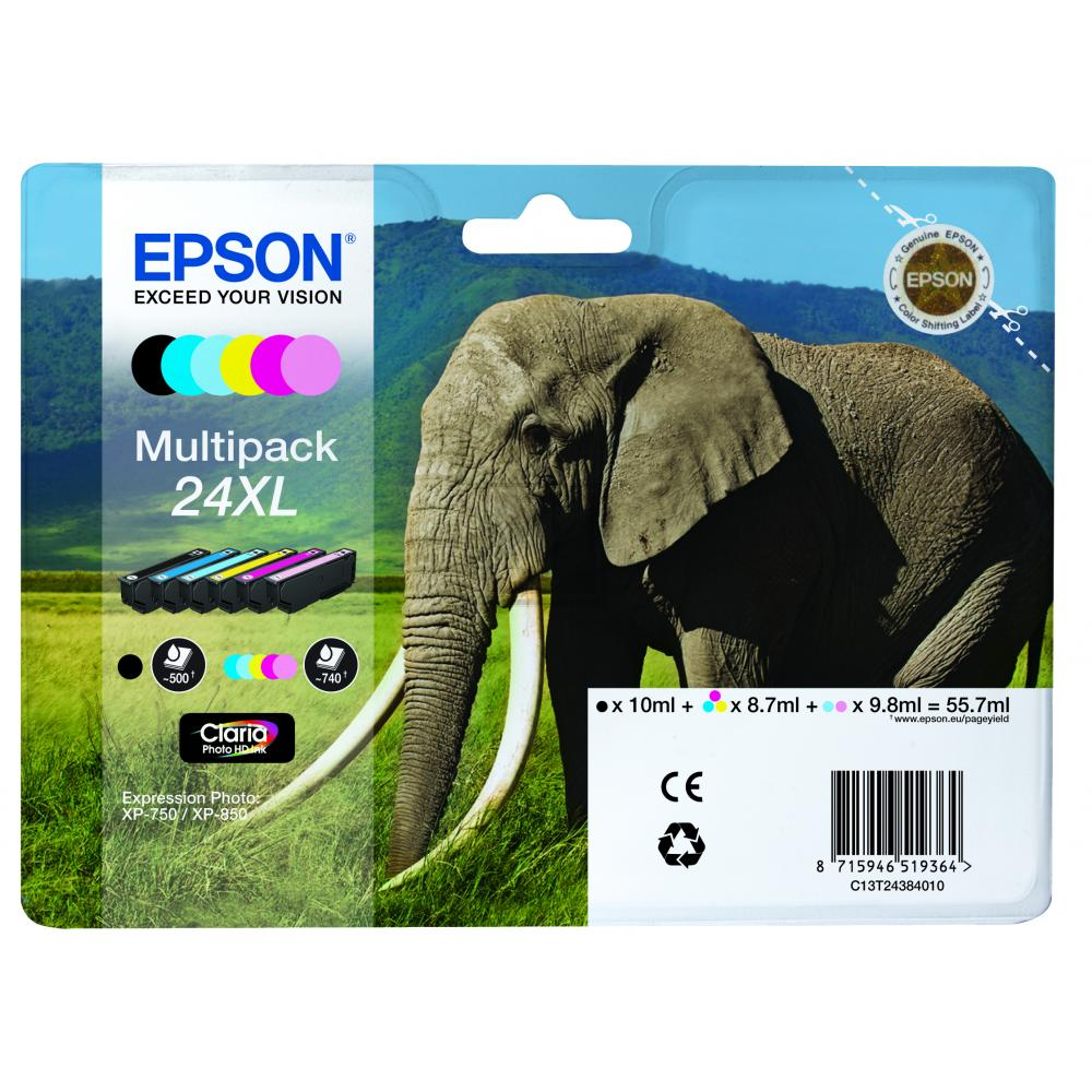 C13T24384011 // Epson Ink No.24XL Multipack / C13T24384011