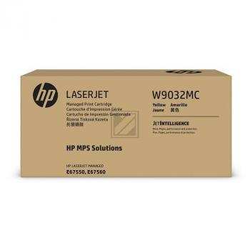 W9032MC HP MANAGED E67550 CARTRIDGE YEL / W9032MC
