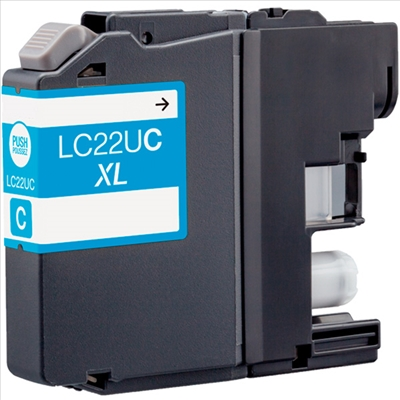 BULK LC22UC Alternativ Tinte Cyan für Brother / LC22UC / 15,4ml