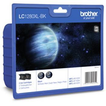 LC1280XLBKBP2 // 2 x BK // original // Tinte f. Br / LC1280XLBKBP2DR // LC1280XLBKBP2