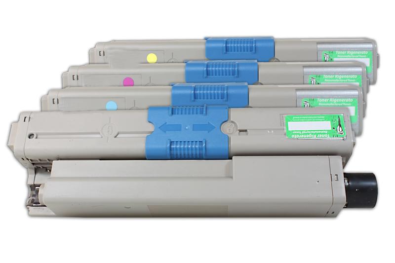 TONC321KIT Alternativ Toner Rainbowkit für Oki / 4497353336 BKCMY / 2.200 / 1.500 Seiten