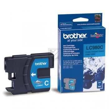 LC980C // Cyan // original // Tinte f. Brother DCP / LC980C