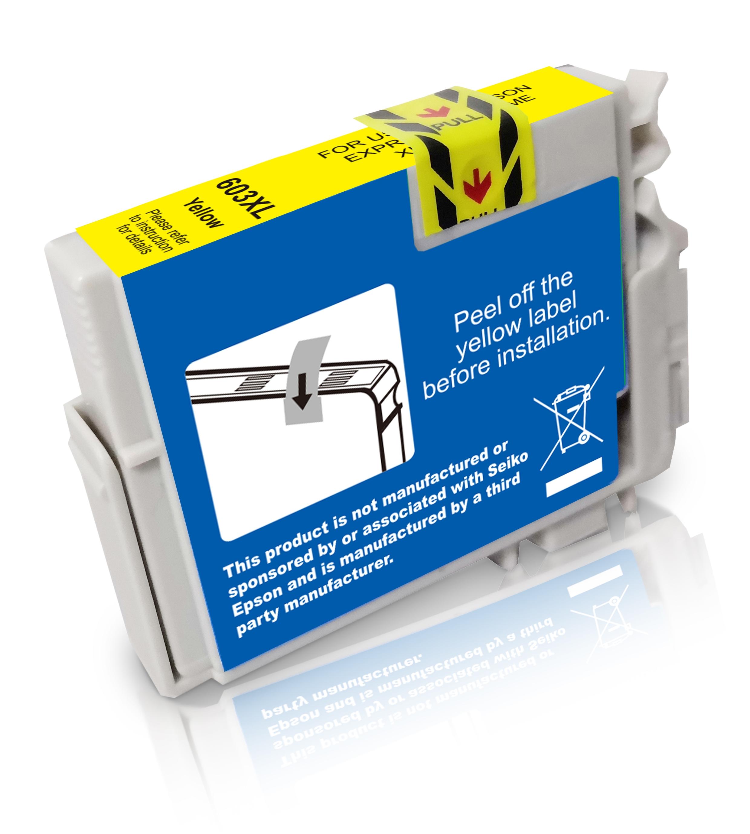 BULK T603XLY Alternativ Tinte Yellow für Epson / C13T03A44010 / 9ml / 350 Seiten