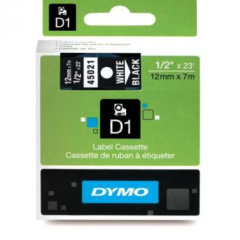45021 // S0720610 // Dymo Schriftband 12mm, weiss/ / 45021 // S0720610