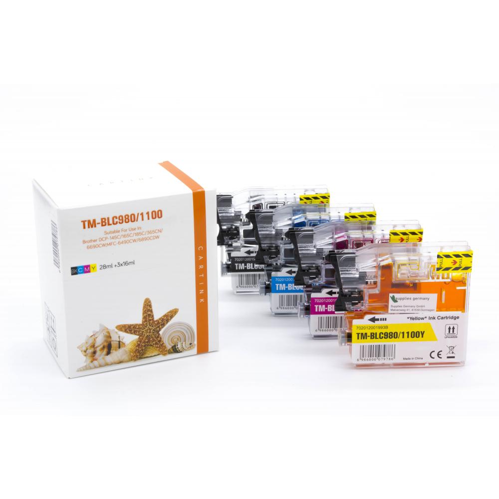 Alternativ Tinte für Brother / LC980VALBP / BK28ml / C,M,Y16ml