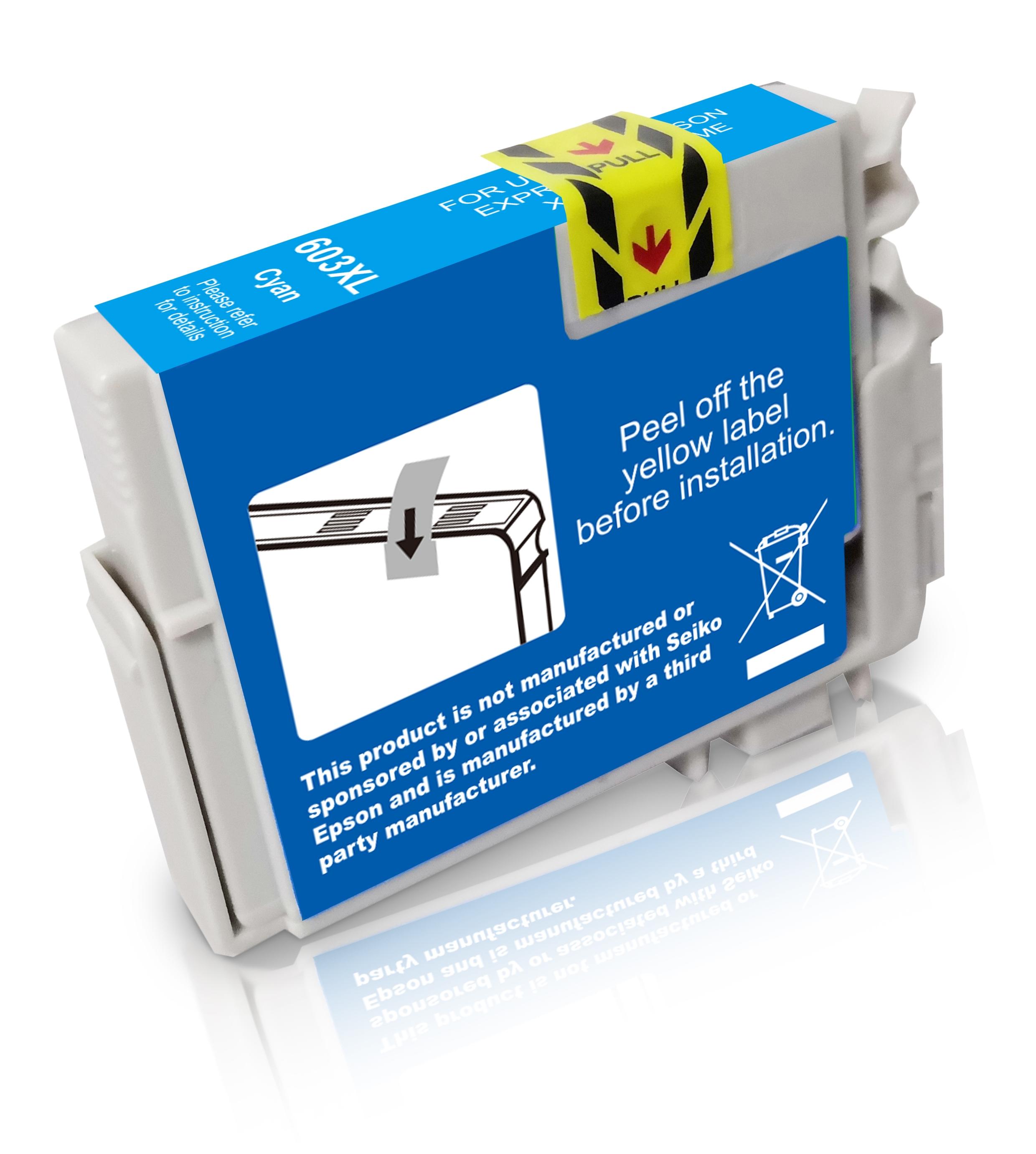 BULK T603XLC Alternativ Tinte Cyan für Epson / C13T03A24010 / 9ml / 350 Seiten