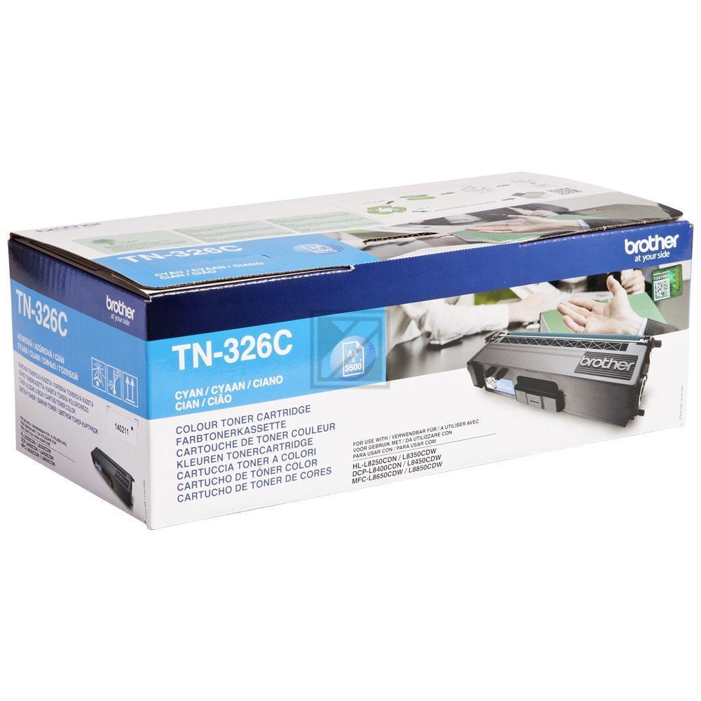TN326C Original Toner Cyan für Brother /  TN326C / 3.500 Seiten