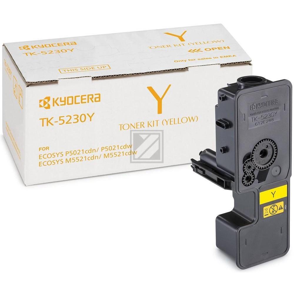 TK5230Y /1T02R9ANL0 Original Toner Yellow für Kyo / 1T02R9ANL0/TK5230Y / 2.200 Seiten