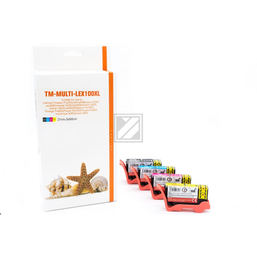 Alternativ Tinte  für Lexmark / 14N1921E / BK23ml / C,M,Y13ml