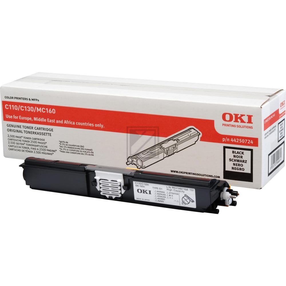 44250724 Original Toner Black für Oki C110 / 44250724 / 2.500 Seiten