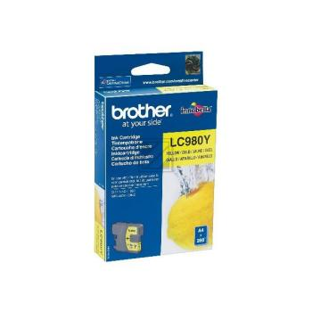 LC980Y // Yellow // original // Tinte f. Brother D / LC980Y