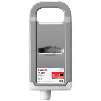 CANON PFI706R Tinte rot hohe Kapazität / 6687B001