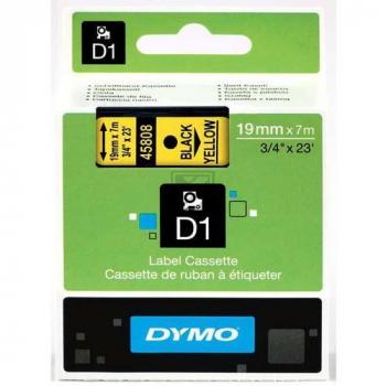 S0720880 Dymo Schriftband 19mm, schw/gelb, 7m (458 / 45808 // S0720880