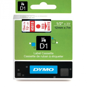 S0720550 DYMO D1 12mm ROTWEISS / S0720550