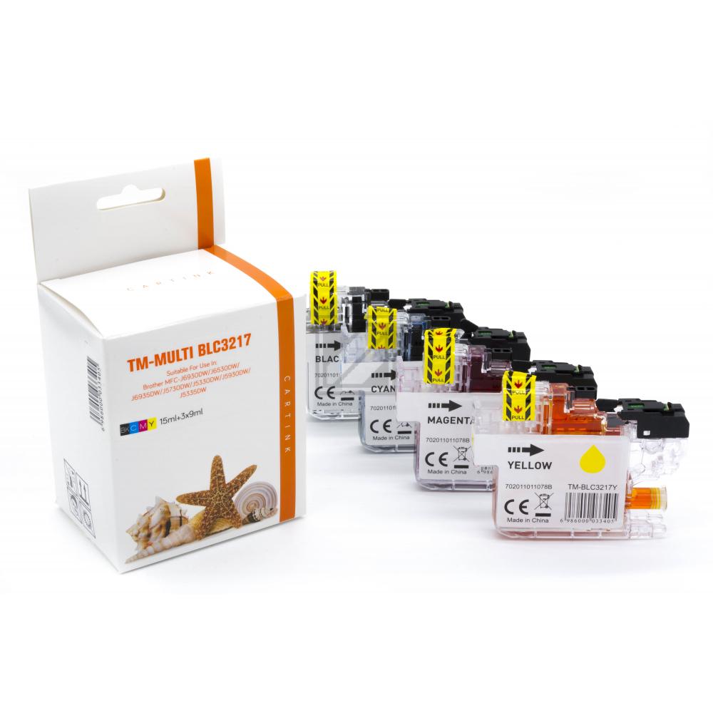 Alternativ Tinte für Brother / LC3217 / BK15ml / C,M,Y9ml