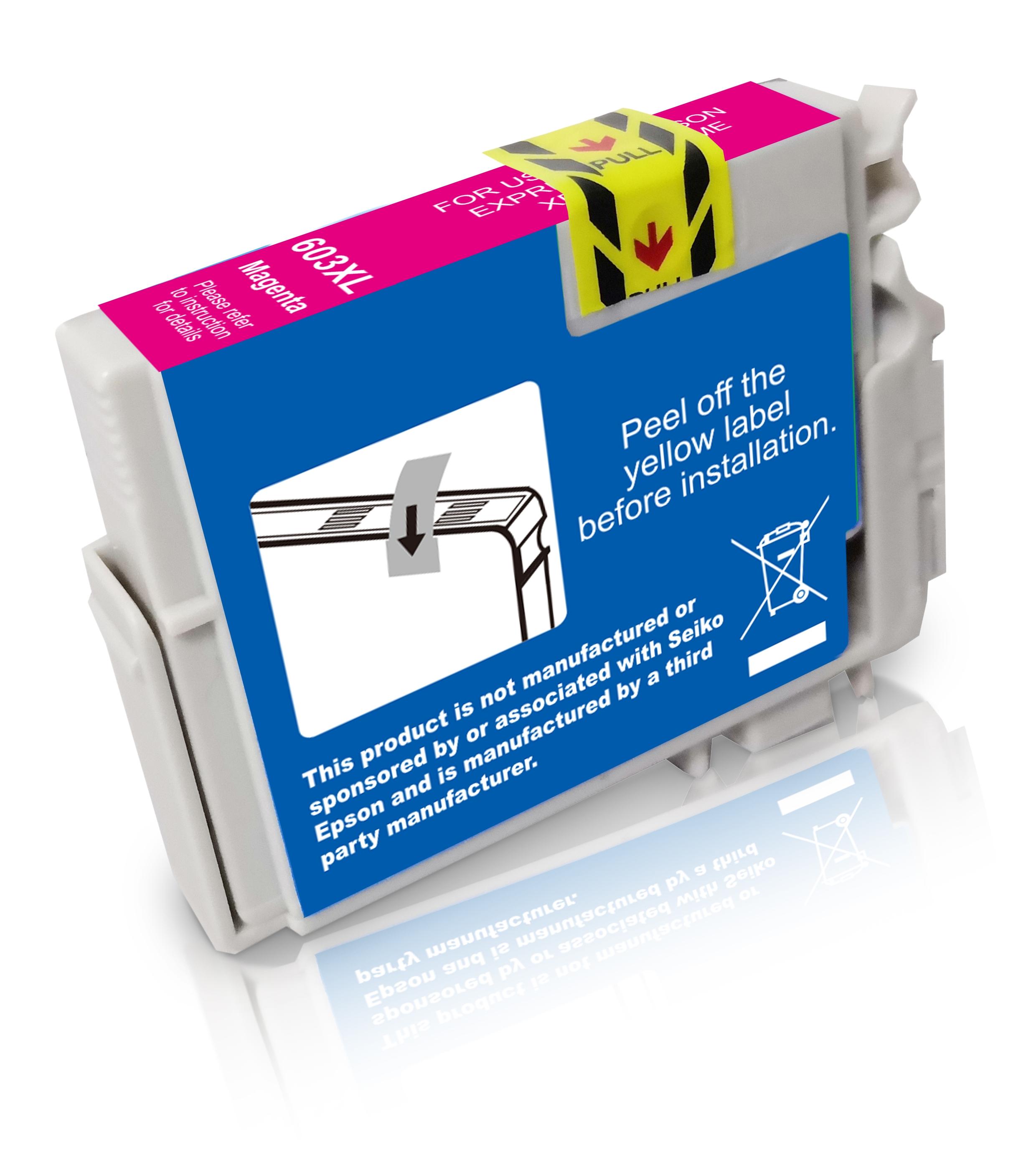 BULK T603XLM Alternativ Tinte Magenta für Epson / C13T03A34010 / 9ml / 350 Seiten