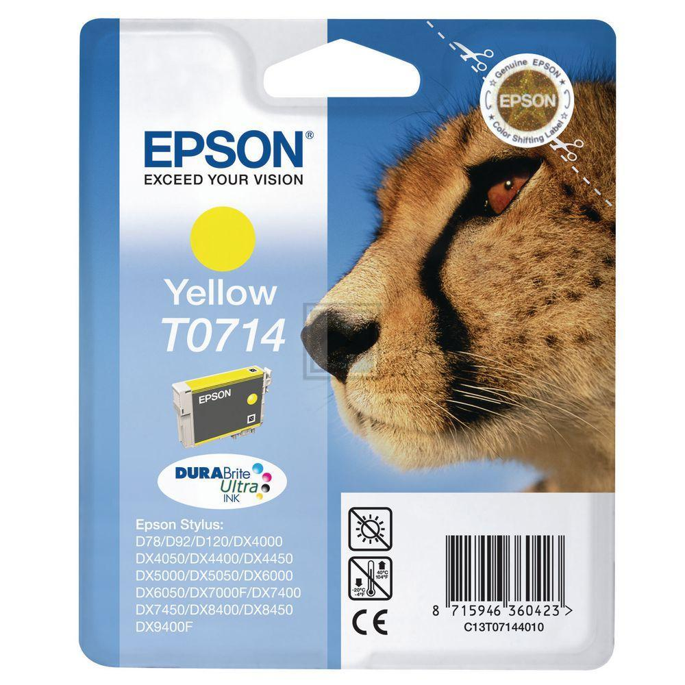 T0714 // C13T07144012 // Yellow // original // Tin / C13T07144011 // C13T07144012 / 5,5 ml
