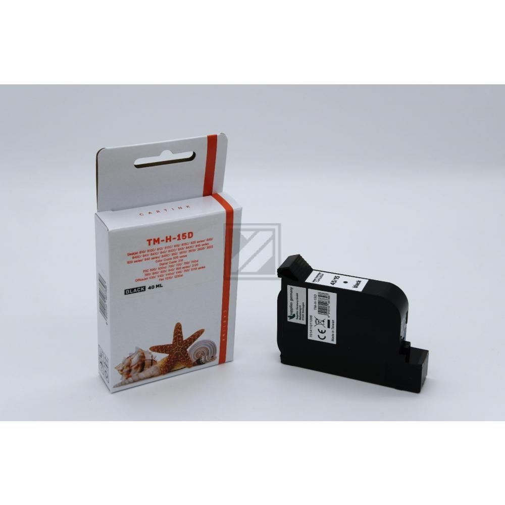 Alternativ Tinte Black für HP / C6615D / 40ml (Patentsicher)