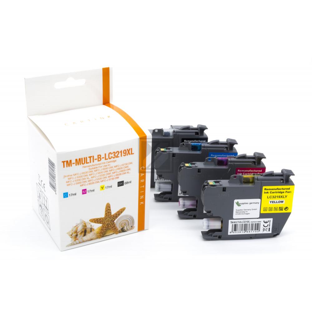 Alternativ Tinte für Brother / LC3219XL / Bk68ml/CMY17ml  (PATENTSICHER)