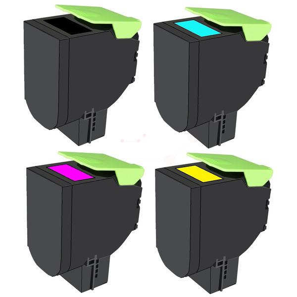 TONCS417KIT Alternativ Toner Rainbowkit für Lexmak / 71B2HK0/C0/M0/Y0 / BK x 6.000 / (CMY)je x 3.500 S