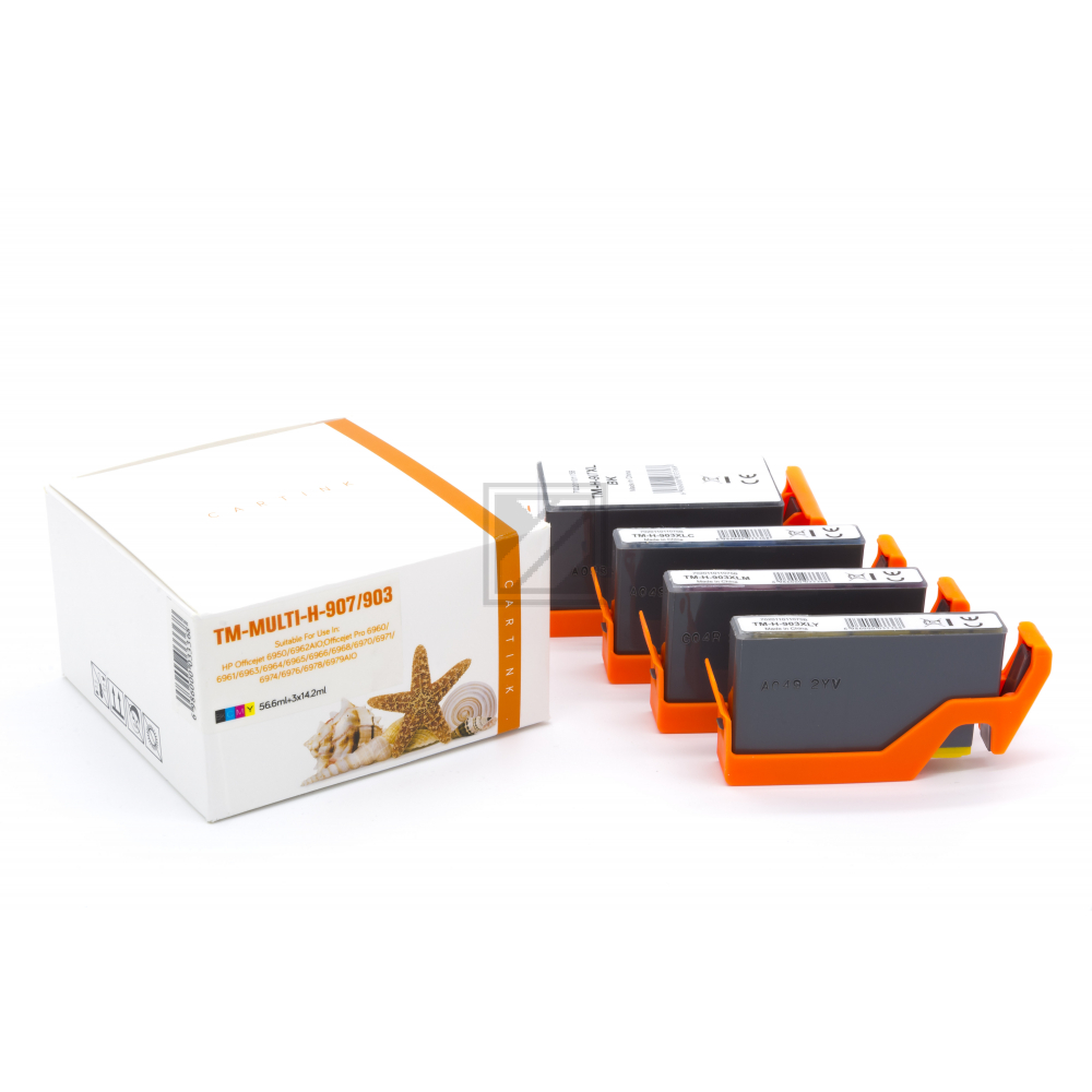Alternativ Tinte für HP / T6M19AE /T6M03/07/11AE / BK43ml / C,M,Y10ml