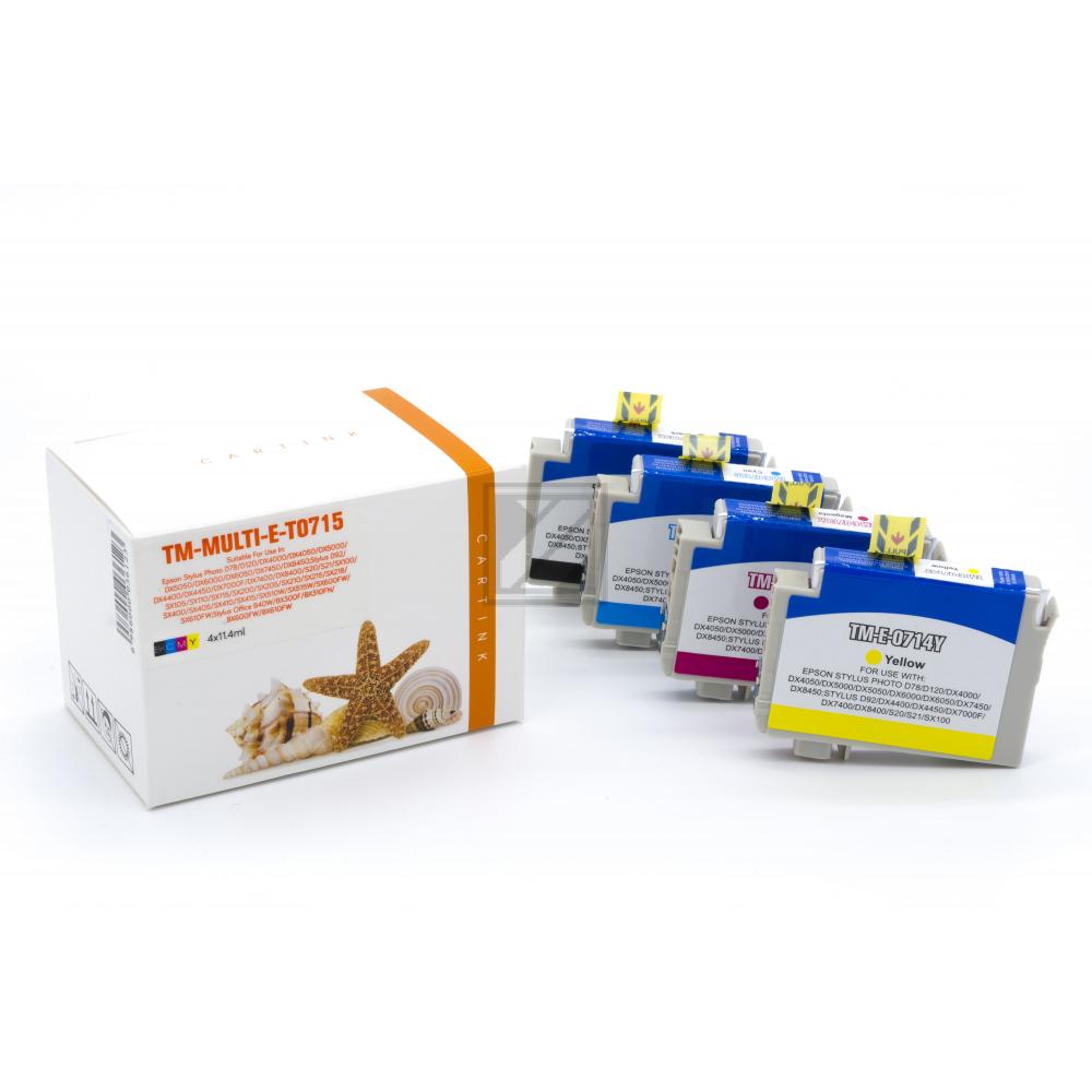 Alternativ Tinte für Epson / C13T07154010 / BK,C,M,Y11,4 ml