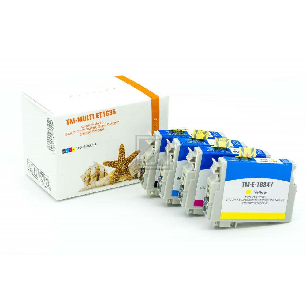 Alternativ Tinte  für Epson / C13T16364010 / BK14,6ml/C,M,Y10ml (PATENT SAFE