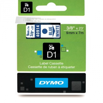 40914 Dymo Schriftband 9mm, blau/wei / 40914