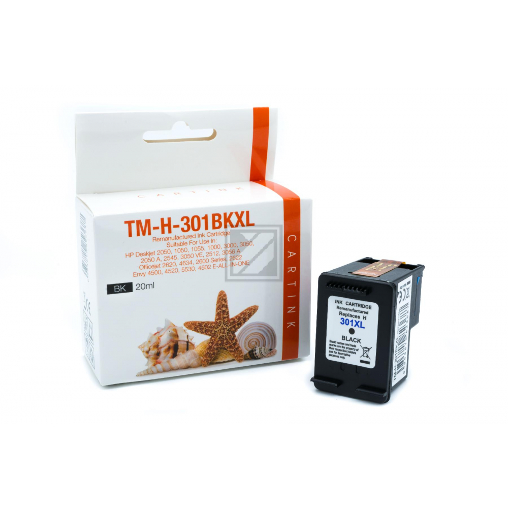 Refill Tinte Black für HP / CH563EE / 20ml