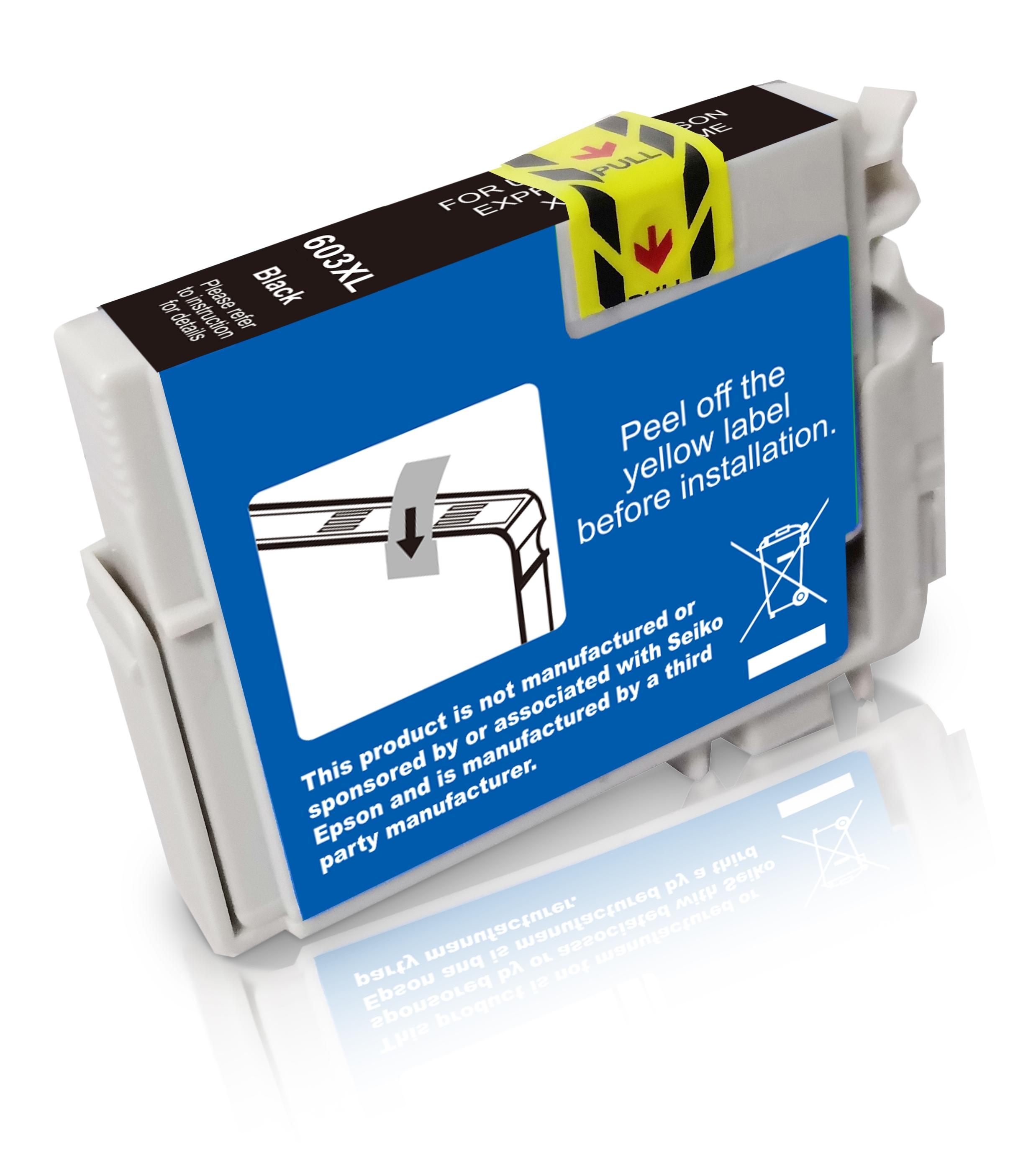 BULK T603XLBK Alternativ Tinte Black für Epson / C13T03A14010 / 13ml / 500 Seiten