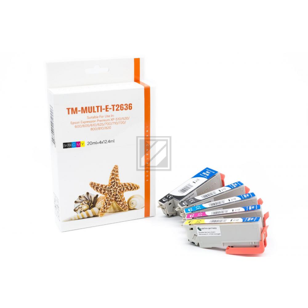 Alternativ Tinte für Epson / C13T26364010 / BK15ml /PBK,C,M,Y10ml