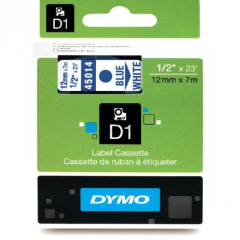 45014 // S0720540 // Dymo Schriftband 12mm, blau/w / 45014 // S0720540