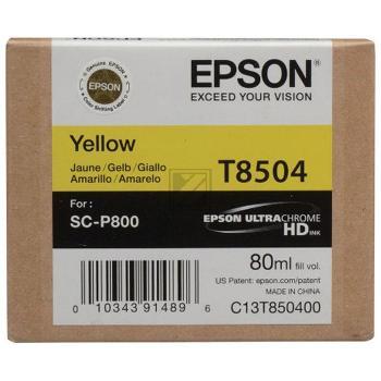 T8504 (C 13 T 850400) / original / Tinte yellow / C13T850400