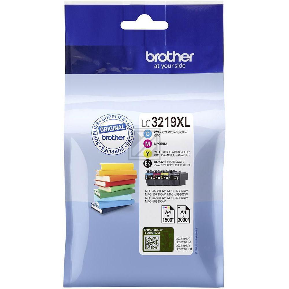 LC3219XLVALDR / Multipack Tinte für Brother  / LC3219XLVALDR / 1 x 3.000  3 x 1.500 Seiten