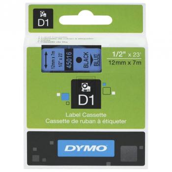 45016 // S0720560 // Dymo Schriftband 12mm, schwar / 45016 // S0720560