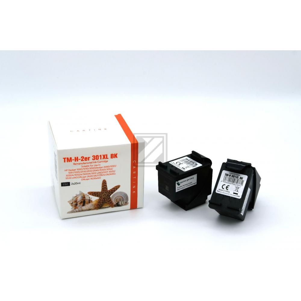 Refill Tinte Black für HP / D8J45AE / 2x20ml
