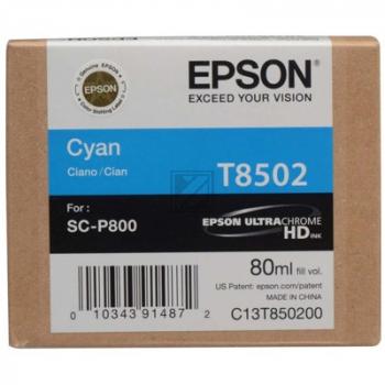 T8502 (C 13 T 850200) / original / Tinte cyan / C13T850200