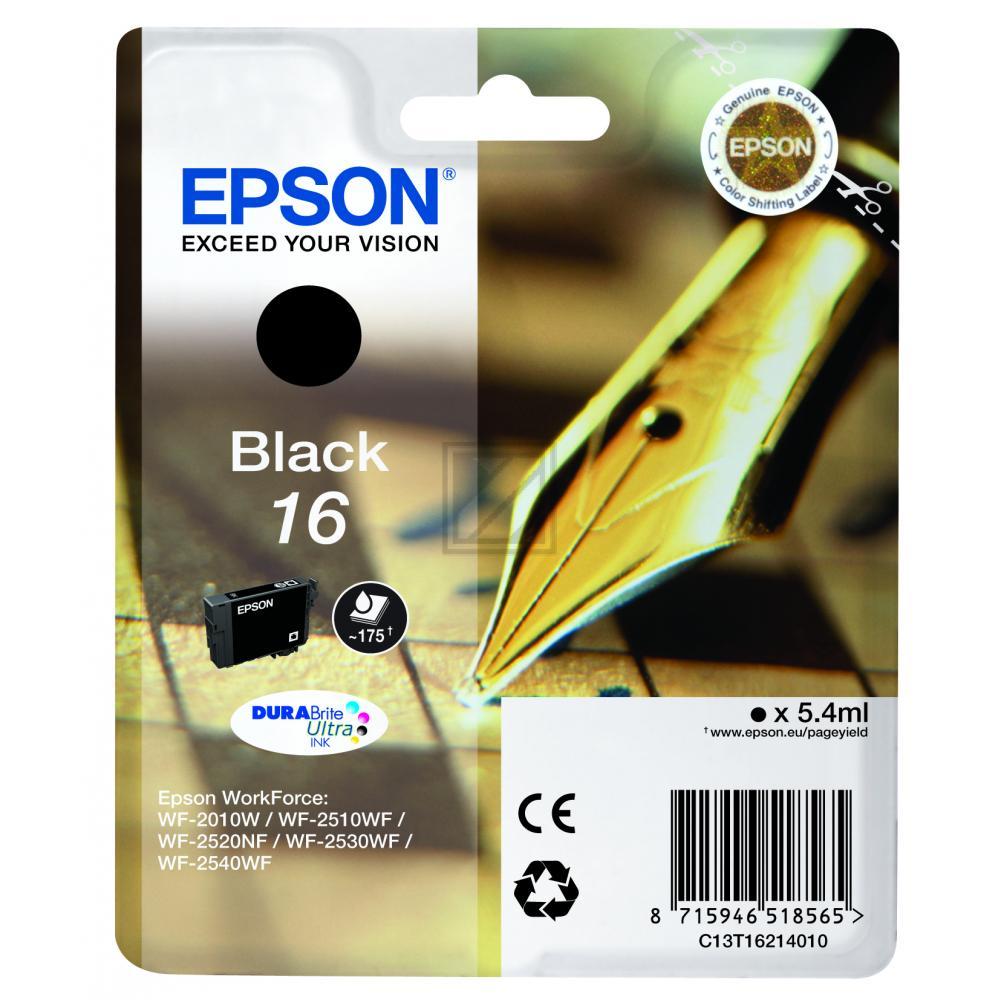 C13T16214012 / Nr.16BK Original Tinte Black für Ep / C13T16214012 / 5,4ml