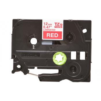 TZE435 // White on Red// original // Schriftband / TZE435