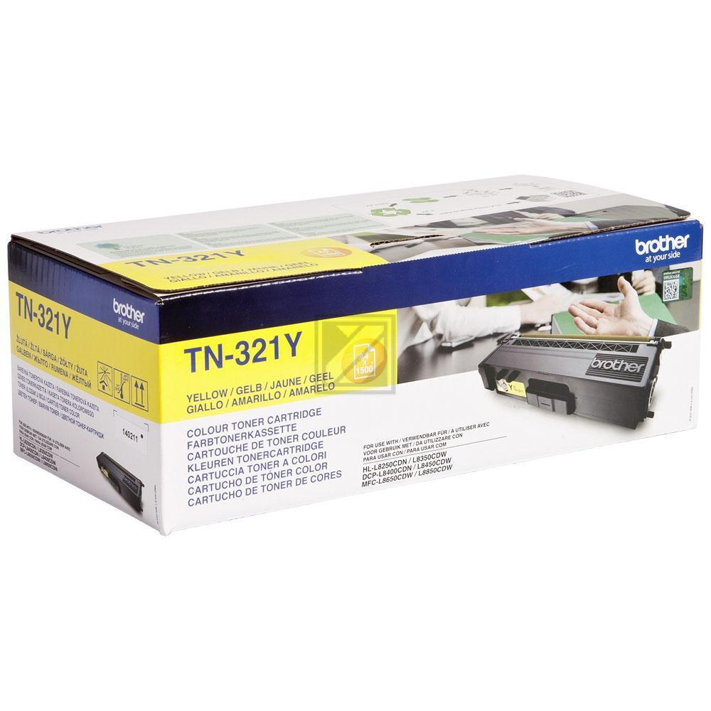 TN321Y Original Toner Yellow für Brother / TN321Y / 1.500 Seiten