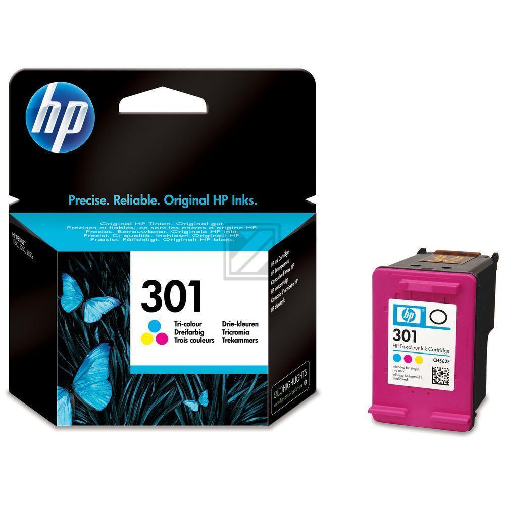 CH562EE / Nr.301C Original Tinte Color für HP / CH562EE / 3 ml