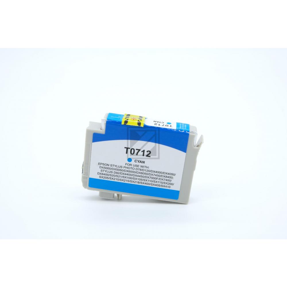 Alternativ Tinte Cyan für Epson / C13T07124010 / 13ml