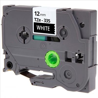 TZe335 Alternativ Farbband White on BK für Brothe / TZe335