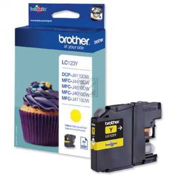 LC123 // Yellow // original // Tinte f. Brother // / LC123Y