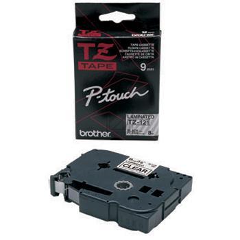 TZE121 // Black on Clear // original // Beschriftu / TZE121