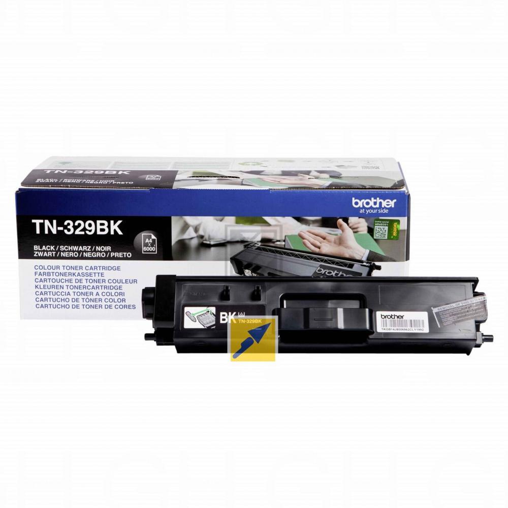 TN329BK Original Toner Black  für Brother D / TN329BK / 6.000 Seiten